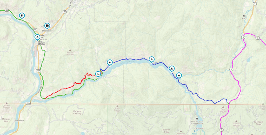 Pend-d'oreille motorcycle route map