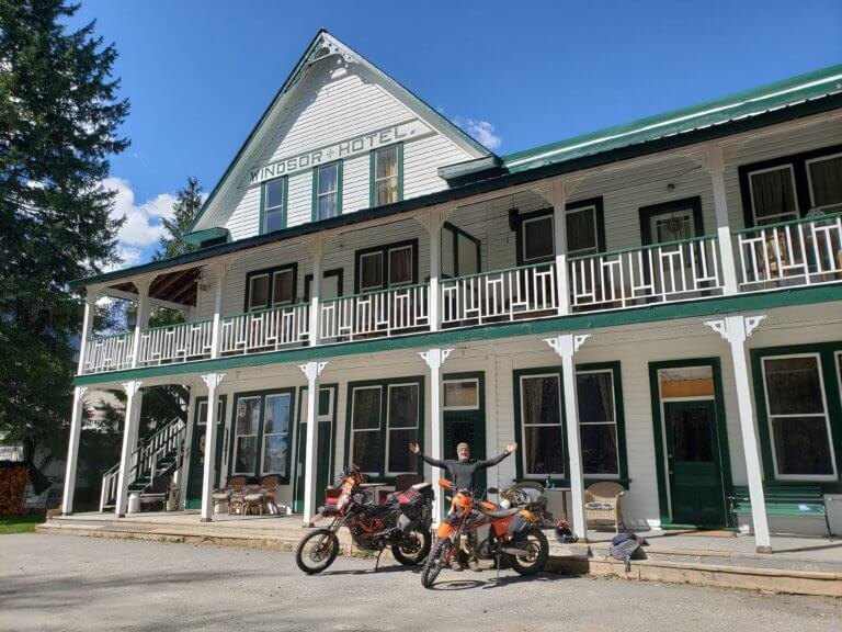trout lake Windsor hotel with motorbikes