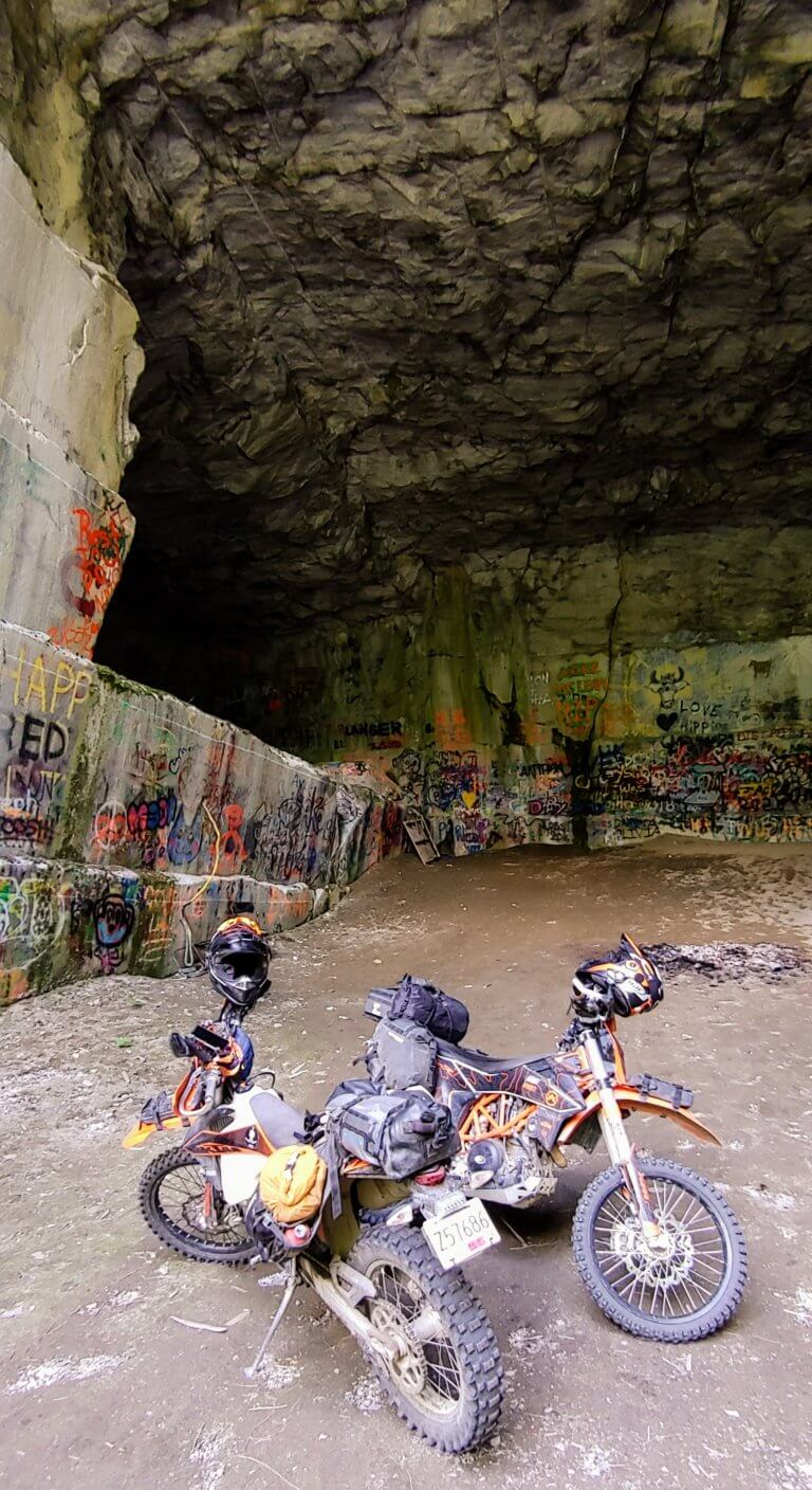 motorcycles in the Marblehead Quarry