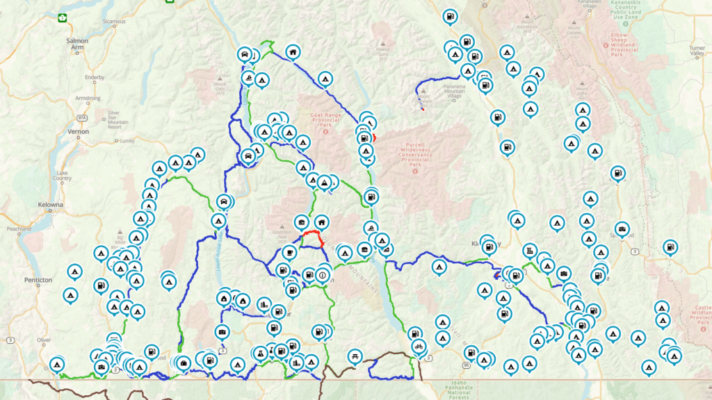 kootenay map of the works