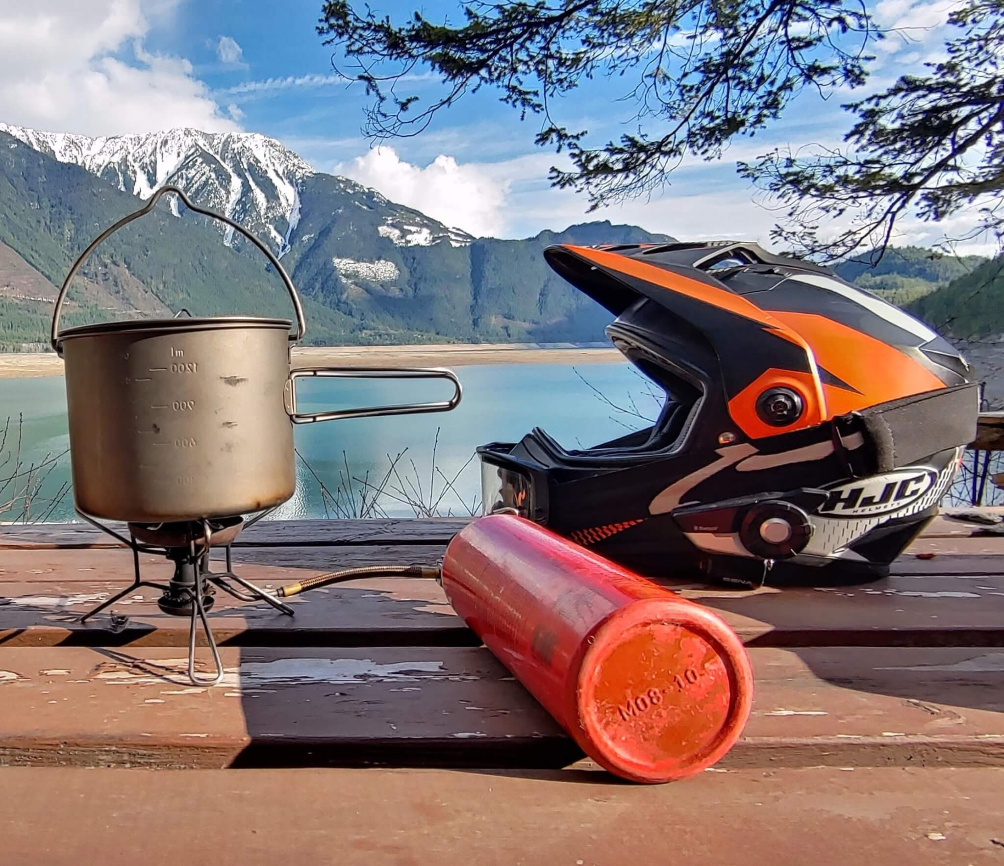 MSR Whisperlite Intentional cooking motorcycle camping